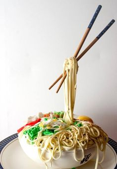 The Noodle Bowl cake