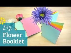 How to make a simple book (booklet) using a flower to bind the pages. These can be made into sweet gifts, or fun party favors :)
