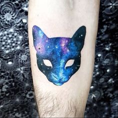 Cat galaxy tattoo
