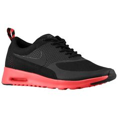 Nike Air Max Thea - Women's - Running - Shoes - Black/Fusion Red/Anthracite