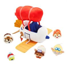 D23 Expo Exclusive Tsum Tsum Sets July 2017. Chip and Dale Rescue Rangers Bag Set, includes mini Chip, Dale, Monterey Jack, Gadget Hackwrench and Zipper (micro).