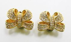 Adorable Vintage 1960s Gold Toned Clear by GildedTrifles on Etsy