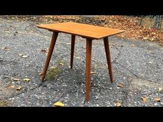 In this video I do a quick refinish on a mid century table I found in a thrift store. The table was designed by Paul McCobb for Winchendon Furniture. Table Planner, Paul Mccobb, Reupholster Furniture, Furniture Restoration, Thrifting, Mid Century, Group, Store, Youtube