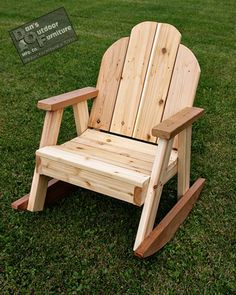 Ozark Patio Rocking Chair is built to last! 2x4 Furniture, Outdoor Furniture Plans, Handmade Furniture, Furniture Cleaning, Cheap Furniture, Luxury Furniture, Furniture Design, Rocking Chair Plans, Patio Rocking Chairs