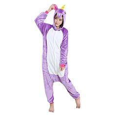 WAQIA in Pajamas Unicorn Onesie Pajamas Kigurumi Cosplay Costumes Animal Outfit >>> Want additional info? Click on the image.