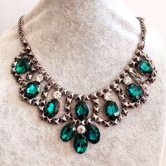 2014 New Green colour Crystal Rasin Beaded Boho by MyInnerAttitude, £7.99