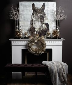 rustic christmas fireplace mantel decoration for 2013 christmas mantle