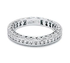 Tacori Wedding Rings, Designer Wedding Rings. would LOVE alternating diamonds/sapphires