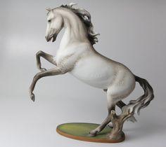 Kaiser Porcelain Rearing Horse 'Meteor' 380 Dapple Gray Stallion