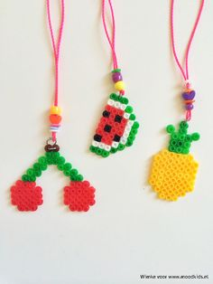 Zelf een strijkkralen patroon maken is heel eenvoudig, we helpen je graag op weg. #ananas #kers #meloen