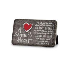 A Servants Heart - Ceramic Plaque