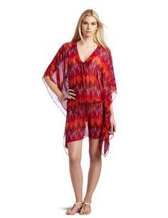 Hermanny By Vix Women`s Ikat Chiffon Tunic Top $81.50