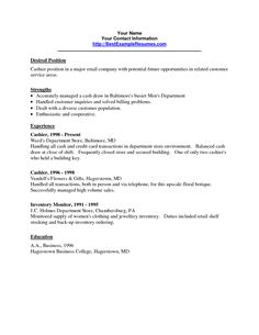 job resume example and samples