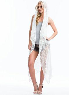 Diamond Patterned Crochet Vest