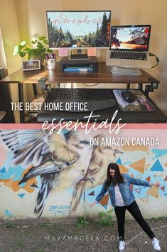 Looking for the best work from home office essentials on Amazon CANADA?! Check out my guide! #workfromhome #officedecor #officeinspo #canada