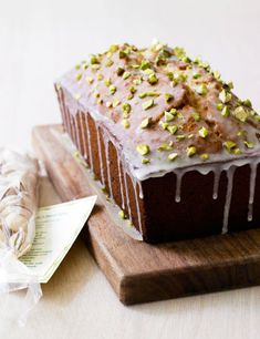 Pistachio Pound Cake Recipe- love pistachios my favorite nut except I don't like the weird pink ones