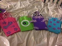 monster inc goodie bags Monster 1st Birthdays, Monster Inc Party, Monster Birthday Parties, 2nd Birthday Party Themes, First Birthday Parties, Boy Birthday, First Birthdays, Birthday Ideas, Monsters Inc Baby Shower