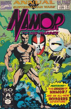 Namor, the Sub-Mariner Annual # 1 Marvel Comics Captain Marvel, Marvel Dc, Comic Book Covers, Comic Books, The Original Avengers, Sub Mariner, Marvel Series, Classic Comics, Silver Surfer