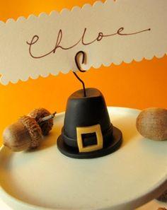 Polyform® Pilgrim Hat Place Card Holder #thanksgiving #craft