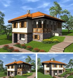 Srpska tradicionalna kuća: Katalog nagrađenih i otkupljenih idejnih rešenja Old Houses, My House, Architecture Design, Georgia, House Plans, Sweet Home, Floor Plans, Stairs, Cottage