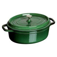 staub 675 quart oval cocotte basil - Staub Dutch Oven