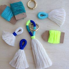 Items similar to Tassel Making Kit and instructions, DIY craft. Make your own tassels or key chain with our tutorial, DIY Craft kit, block colour tassels. on Etsy - Tassel Making Kit and instructions DIY craft. Make your own - Tassel Keychain, Diy Keychain, Diy Tassel, Tassels, Wholesale Ribbon, Diy Crafts How To Make, How To Make A Pom Pom, Rope Crafts, Craft Kits