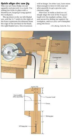 Quick-Align Circular Saw Jig - Circular Saw Tips, Jigs and Fixtures | WoodArchivist.com