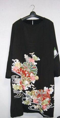Sold Out菊の刺繍が素敵な留袖ワンピース★ストール付 - SonaSona着物リメイク