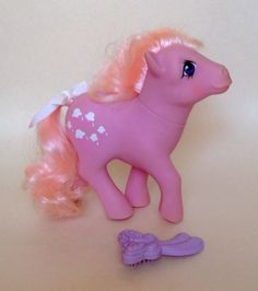 My-Little-Pony-G1-Lickity-Split-w-original-Factory-Curls-Brush
