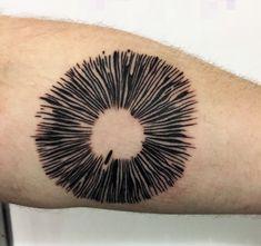 Mushroom spore print tattoo #mushrooms #spore print