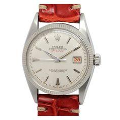 1stdibs.com | Rolex Stainless Steel Datejust Wristwatch Ref 6605 circa 1958