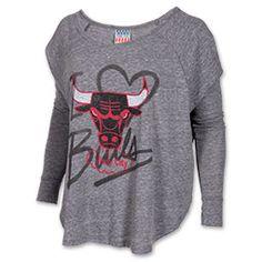 Women's Junk Food Clothing Chicago Bulls NBA Time-Out Triblend T-Shirt| FinishLine.com | Steel