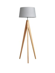 Thea Tripod Floor Lamp in Putty Low Poly, Wooden Floor Lamps, Lounge Lighting, Chair Fabric, Tripod Lamp, Drum Shade, Contemporary Decor, Light Decorations, Interior Styling