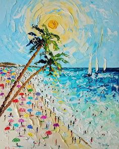 /Beautiful Spain/ palette knife oil painting, framed, available in my store 🇪🇸 Simple Oil Painting, Painting & Drawing, Giraffe Painting, Knife Art, Palette Knife Painting, Beach Art, Landscape Paintings, Art Drawings, Wallpaper