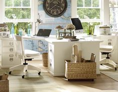 Home Office | Pottery Barn I love the desks