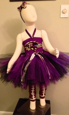 Baltimore Ravens TutuDress with Football by luluBellebySarah, $70.00