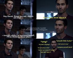 Derek's thoughts at the end lmao