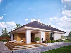 Bungalow House Design, Modern House Design, Patio Design, Exterior Design, Casa Top, Model House Plan, Home Design 2017, Pool Remodel, Modern Properties