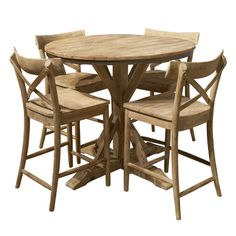 Callista 5pc Set (Counter Height Table w/4 Counter Stools) - Bernie And Phyls