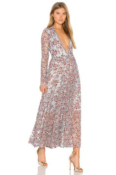 3c7327b06fa0 Shop for Ganni Flynn Dress in Sterling Blue at REVOLVE. Free day shipping  and returns