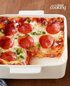 Easy Pepperoni Pizza Lasagna #recipe