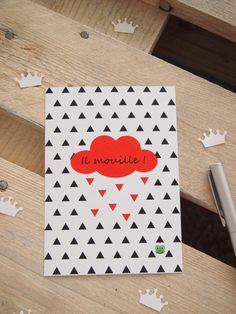 """Carte postale : """"Il mouille"""" Princesse aux bidouilles©"""