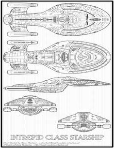 janetfraiser: Schematics for the U.S.S. Voyager (Source