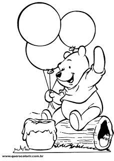 20 Melhores Imagens De Ursinho Pooh Molde E Sua Turma Ursinho