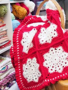 Snowflake throw by betsymakes