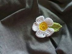 Crochet wedding corsage