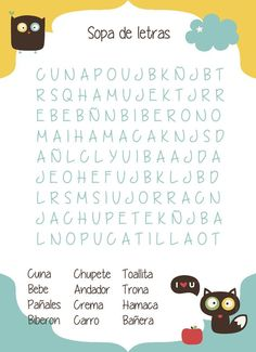 #juego babyshower, sopa de letras bebe #babyshower play: