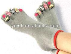 Factory Wholesal fashion Men sport socks fancy toe socks fitness five toe socks $0.1~$0.8