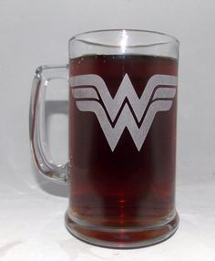 Hey, I found this really awesome Etsy listing at https://www.etsy.com/listing/165159358/wonder-woman-etched-beer-mug