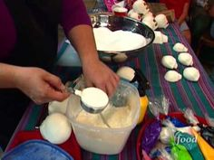 Great Food Network short about how sugar skulls are made.  Good even for a warm-up video in the studio around the holiday!  Informative and promotes the sugar skull as more than a sweet treat, but as a iconic piece of cultural folk art.